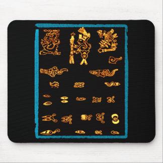 Cool Gold Mayan Design Mouse Mat