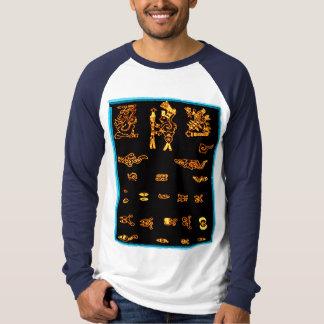 Cool Gold Mayan Design T-shirt