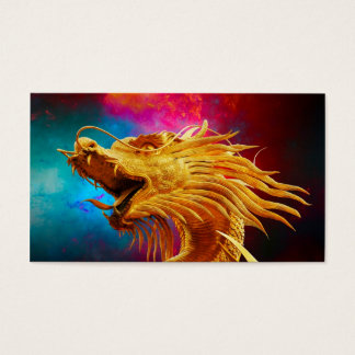 Cool Golden Dragon colourful Thailand background Business Card