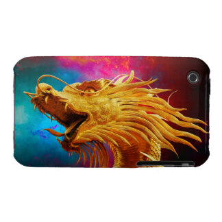 Cool Golden Dragon colourful Thailand background iPhone 3 Cover