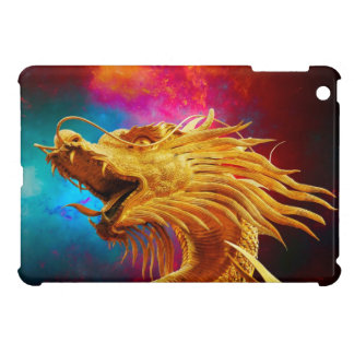Cool Golden Dragon colourful Thailand background Cover For The iPad Mini
