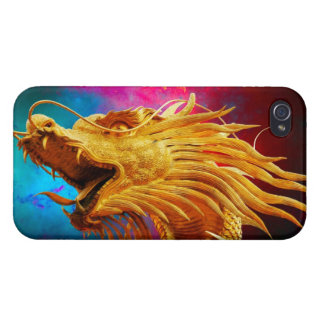 Cool Golden Dragon colourful Thailand background iPhone 4 Cases