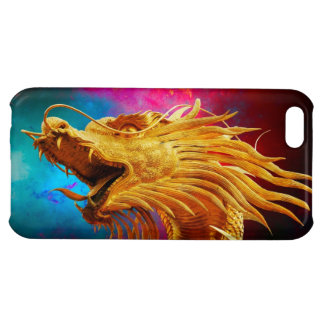 Cool Golden Dragon colourful Thailand background Case For iPhone 5C