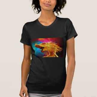 Cool Golden Dragon colourful Thailand background T-Shirt
