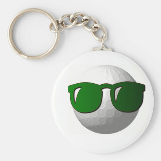 Cool Golf Ball Design Keychain