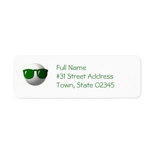 Cool Golf Ball Return Address Label