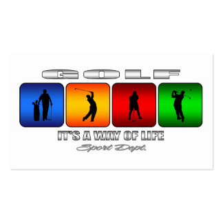 Cool Golf It Is A Way Of Life Pack Of Standard Business Cards
