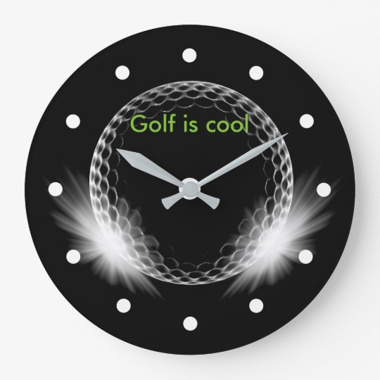 Cool Golf Theme Large Clock