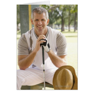 Cool golfer greeting card