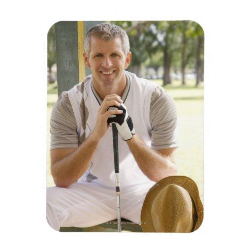 Cool golfer rectangular magnet