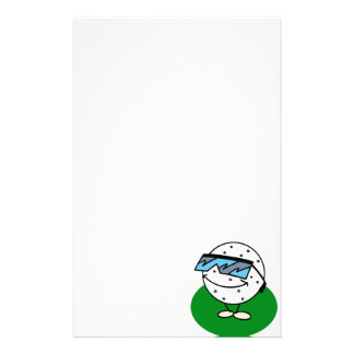Cool Golfer Stationery Paper