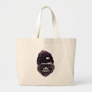 Cool Gorilla with cap Jumbo Tote Bag