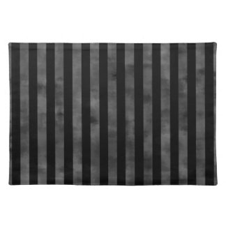 Cool goth punk grungy black and gray dark stripes place mats