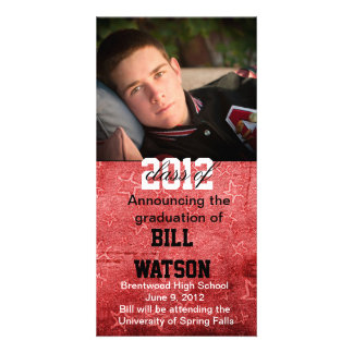 Cool Graduation Announcement Personalised Photo Card