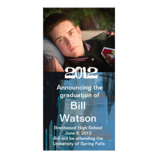 Cool Graduation Announcement Photo Card Template