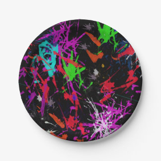 Cool Graffiti Paper Plate