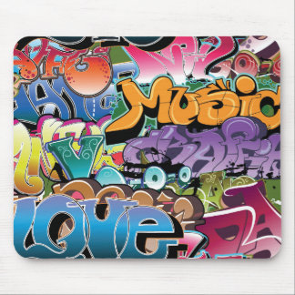 Cool Graffiti Street Art Abstract Mouse Pad