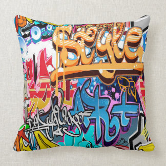 Cool graffiti word art retro home office pillow