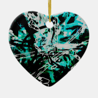 COOL GRAFFITTI SEVEN CERAMIC HEART DECORATION