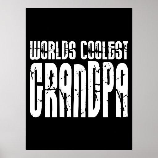 Cool Grandfathers Grandpas  Worlds Coolest Grandpa Poster