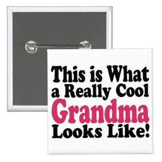 Cool Grandma 15 Cm Square Badge