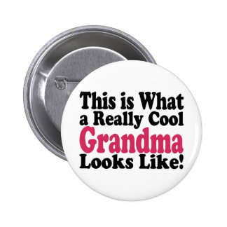 Cool Grandma Pinback Buttons