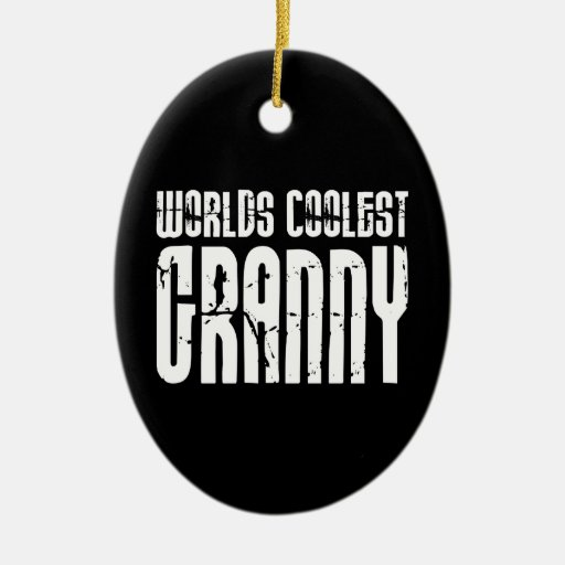 Cool Grandmothers Grannies : Worlds Coolest Granny Ceramic Oval Decoration