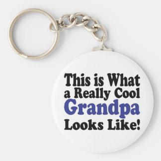 Cool Grandpa Basic Round Button Key Ring