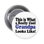Cool Grandpa Pinback Buttons
