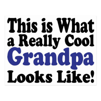 Cool Grandpa Postcard