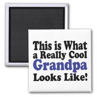 Cool Grandpa Square Magnet