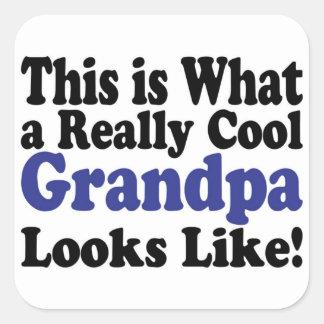 Cool Grandpa Square Sticker