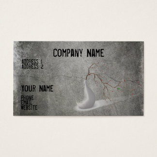 Cool gray business card