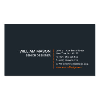 Cool Gray, Orange and White Modern - Business Card