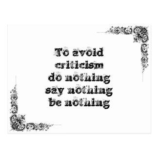 Cool great simple wisdom philosophy tao sentence postcard
