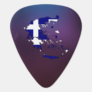 Cool Greece Flag Map Guitar Pick