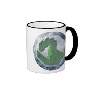 Cool Green And Blue Dragon Gem Coffee Mugs