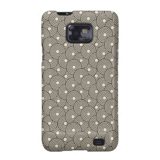 Cool green and cream circles pattern image print galaxy s2 covers