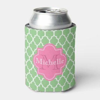 Cool green and pink girly can cooler