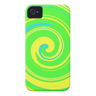 Cool Green and Yellow Abstract iPhone 4 Case