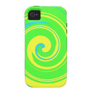 Cool Green and Yellow Abstract Vibe iPhone 4 Case