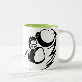 Cool Green Boxer Two-Tone Coffee Mug