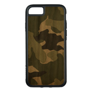 Cool Green Camo Pattern Military Carved® Wood Carved iPhone 8/7 Case