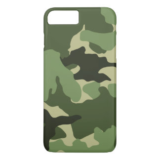 Cool Green Camouflage Military Pattern Slim iPhone 8 Plus/7 Plus Case