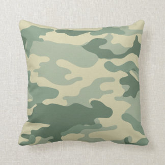 Cool Green Camouflage Pattern Cushion