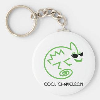 Cool Green Chameleon Key Ring