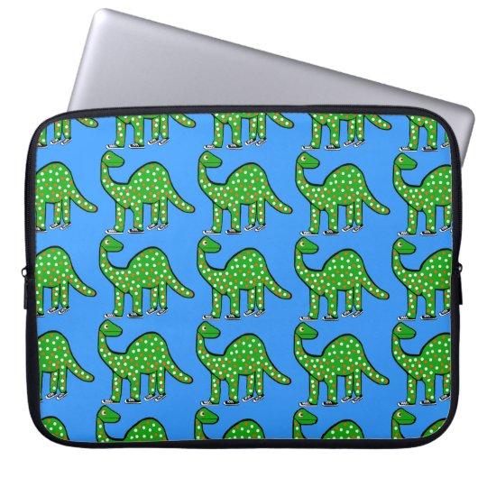 Cool Green Dinosaur Laptop Case Kids Gift Computer