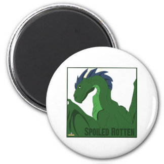 Cool Green Dragon Blue Hair Spoiled Rotten Magnet