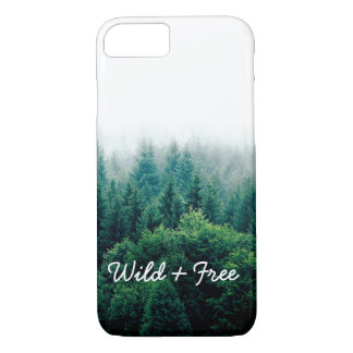 Cool Green Forest Landscape Wild and Free iPhone 8/7 Case