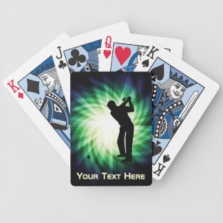 Cool Green Golf Bicycle Playing Cards